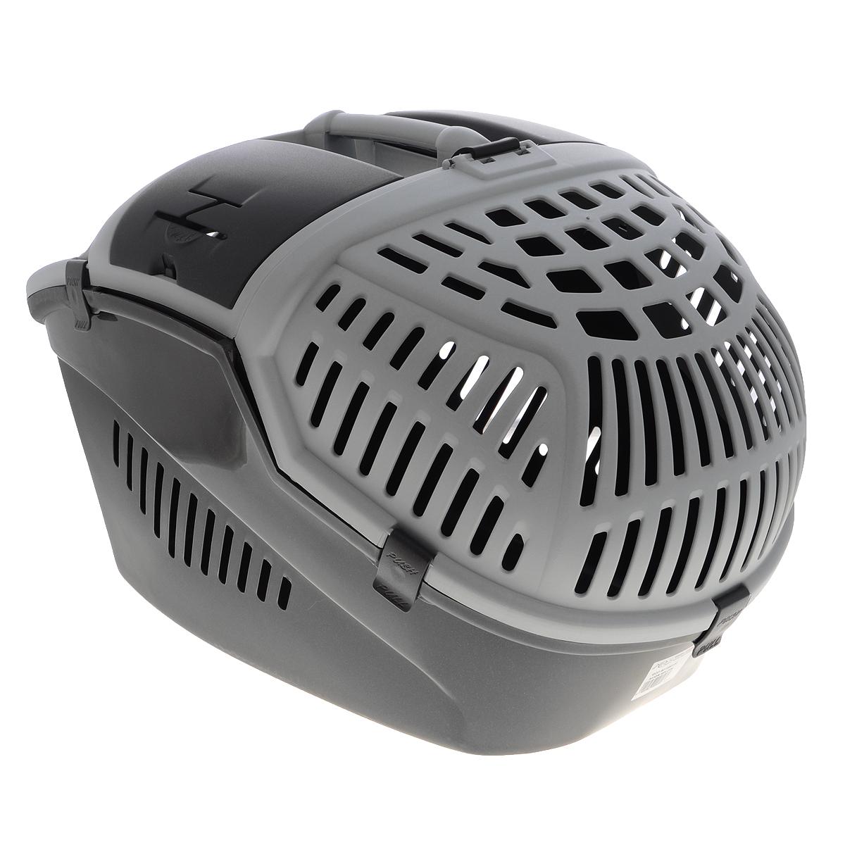 Переноска для животных MPS Avior, цвет: серый, 57,5 см х 39,5 см х 40,5 смS01020100Переноска MPS Avior, выполненная из высококачественного пластика, прекрасно подойдет для транспортировки кошек и собак. Крышка и стенки переноски оснащены отверстиями для вентиляции. Прочная ручка обеспечивает большую безопасность при переноске. Крышка надежно крепится к корпусу при помощи защелок. Переноска может полностью открываться с двух сторон в вертикальном положении. Если Вы захотите успокоить Вашего питомца или угостить его лакомством, Вы можете просто открыть небольшой люк в верхней части переноски и просунуть внутрь руку. Кроме того, имеется небольшое отделение, где вы можете хранить воду, поводок или корм. а так же имеются отверстия для ремней безопасности для удобства перевоза любимца в машине. Размеры переноски: 57,5 см х 39,5 см х 40,5 см.