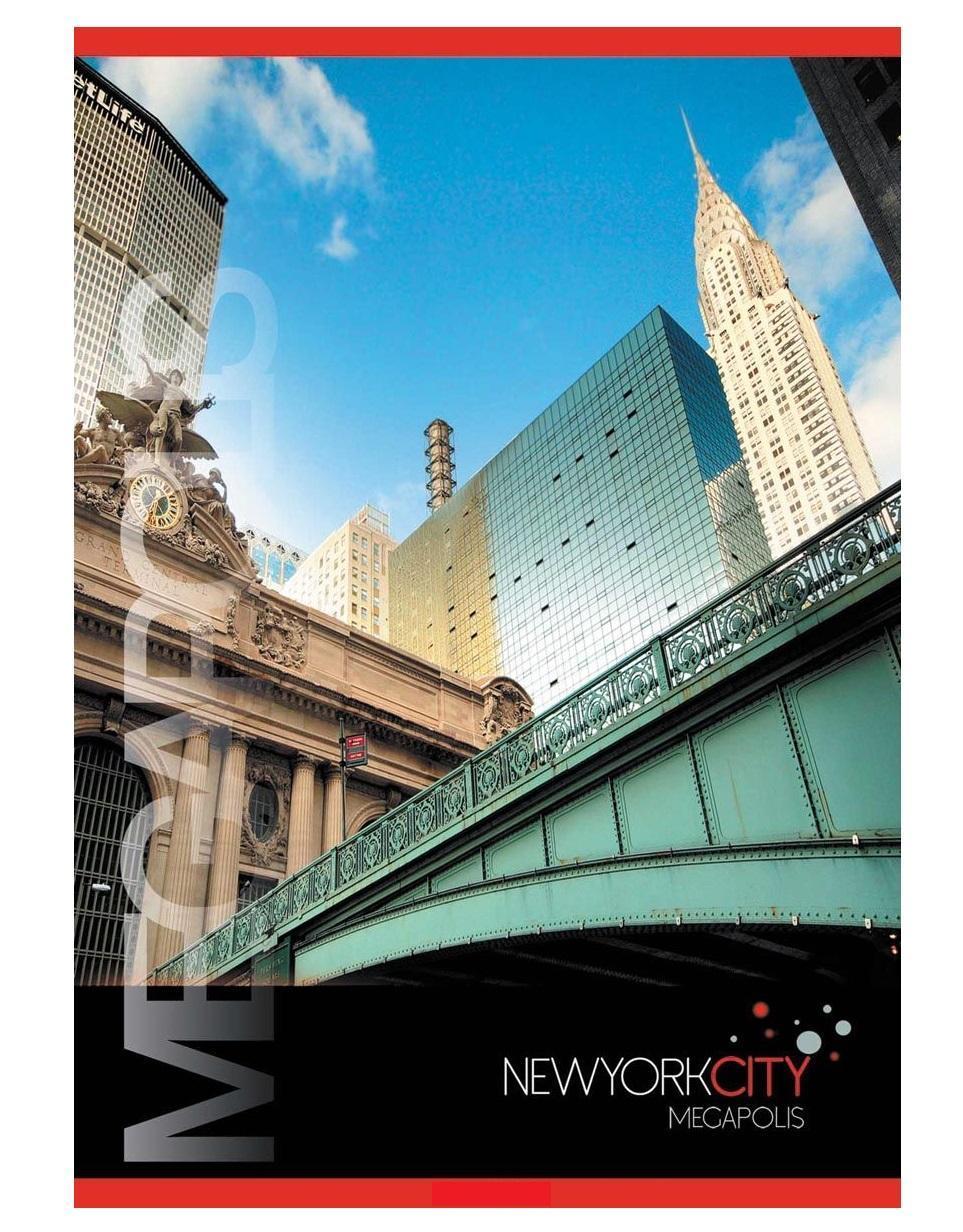 ACTION! Тетрадь Нью-Йорк Мост в клетку 80 листовANS4 8007/5Тетрадь на 80 листовсделана из высококачественного мелованного картона. Оригинальная цветовая роскраска. Отличное сочетание цены и качества - именно то что вам нужно.