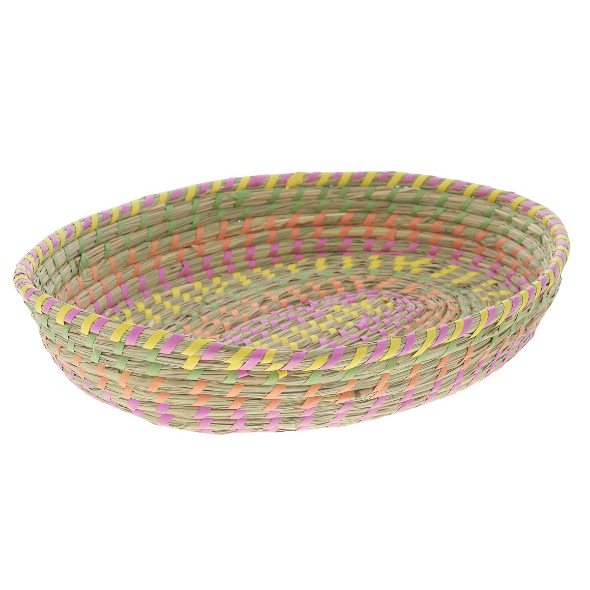 Корзина Zeller, 38 см х 31 см х 6,5 см18032Овальная корзина Zeller изготовлена из натурального плетеного волокна. Она предназначена для хранения фруктов, хлеба, а также мелочей дома или на даче. Позволяет хранить мелкие вещи, исключая возможность их потери. Корзина очень вместительная. Элегантный выдержанный дизайн позволяет органично вписаться в ваш интерьер и стать его элементом. Материал: натуральное волокно.