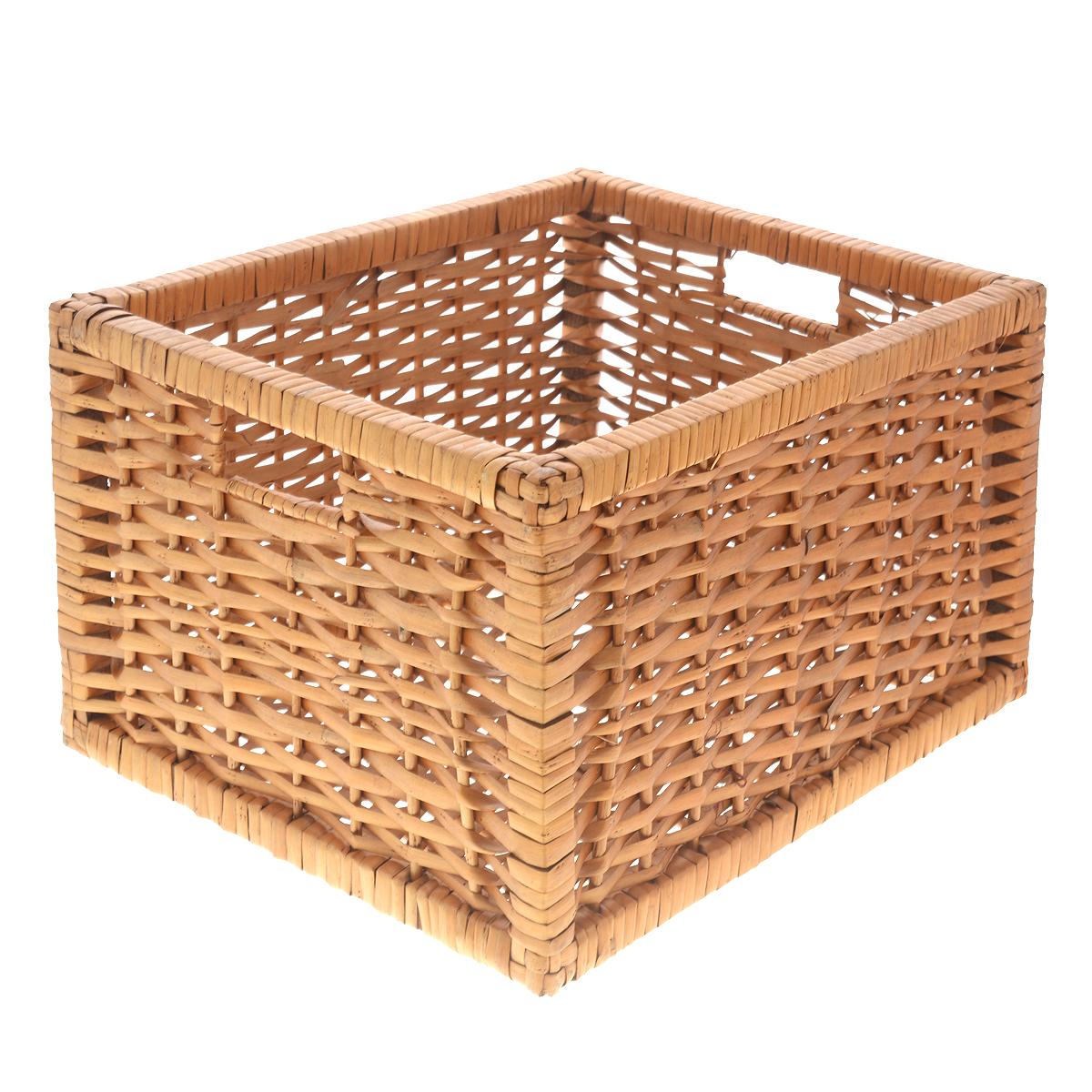 Корзина Kesper, 37 х 29 х 21 см1785-2Прямоугольная корзина Kesper изготовлена из натурального плетеного волокна. Она предназначена для хранения фруктов, овощей, а также мелочей дома или на даче. Позволяет хранить мелкие вещи, исключая возможность их потери. Изделие оснащено удобными ручками. Корзина очень вместительная. Элегантный выдержанный дизайн позволяет органично вписаться в ваш интерьер и стать его элементом. Материал: натуральное волокно.