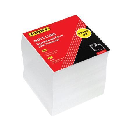 Бумажный блок для записей 90*90*90 белый, непроклеенный, в термоплёнке