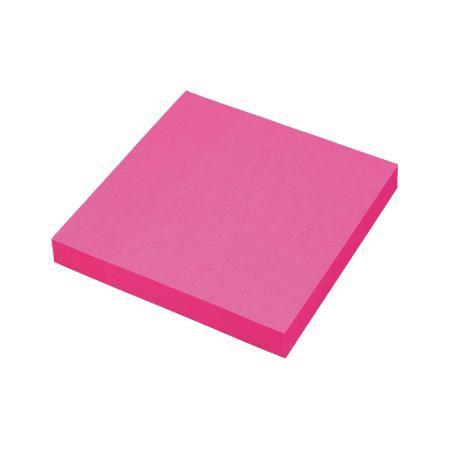 Клейкая бумага для заметок (76*76 мм) 100 листов, малиновая неоновая ProffPF-7676N-18