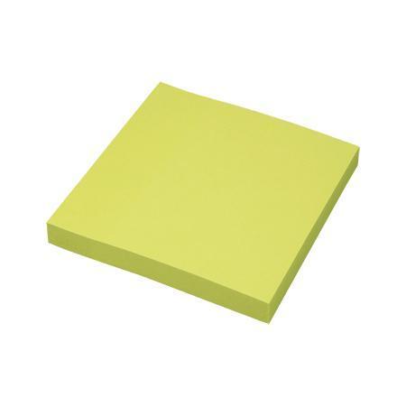 Клейкая бумага для заметок (76*76 мм) 100 листов, зеленая неоновая