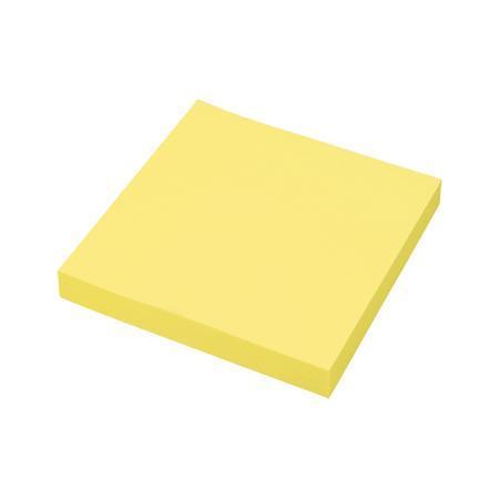 Клейкая бумага для заметок (76*76 мм) 100 листов, желтая неоновая