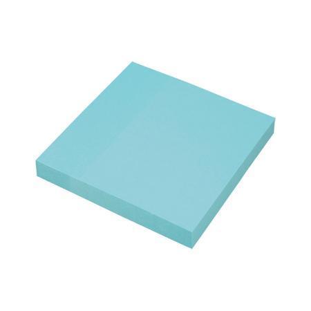 Клейкая бумага для заметок (76*76 мм) 100 листов, голубая неоновая