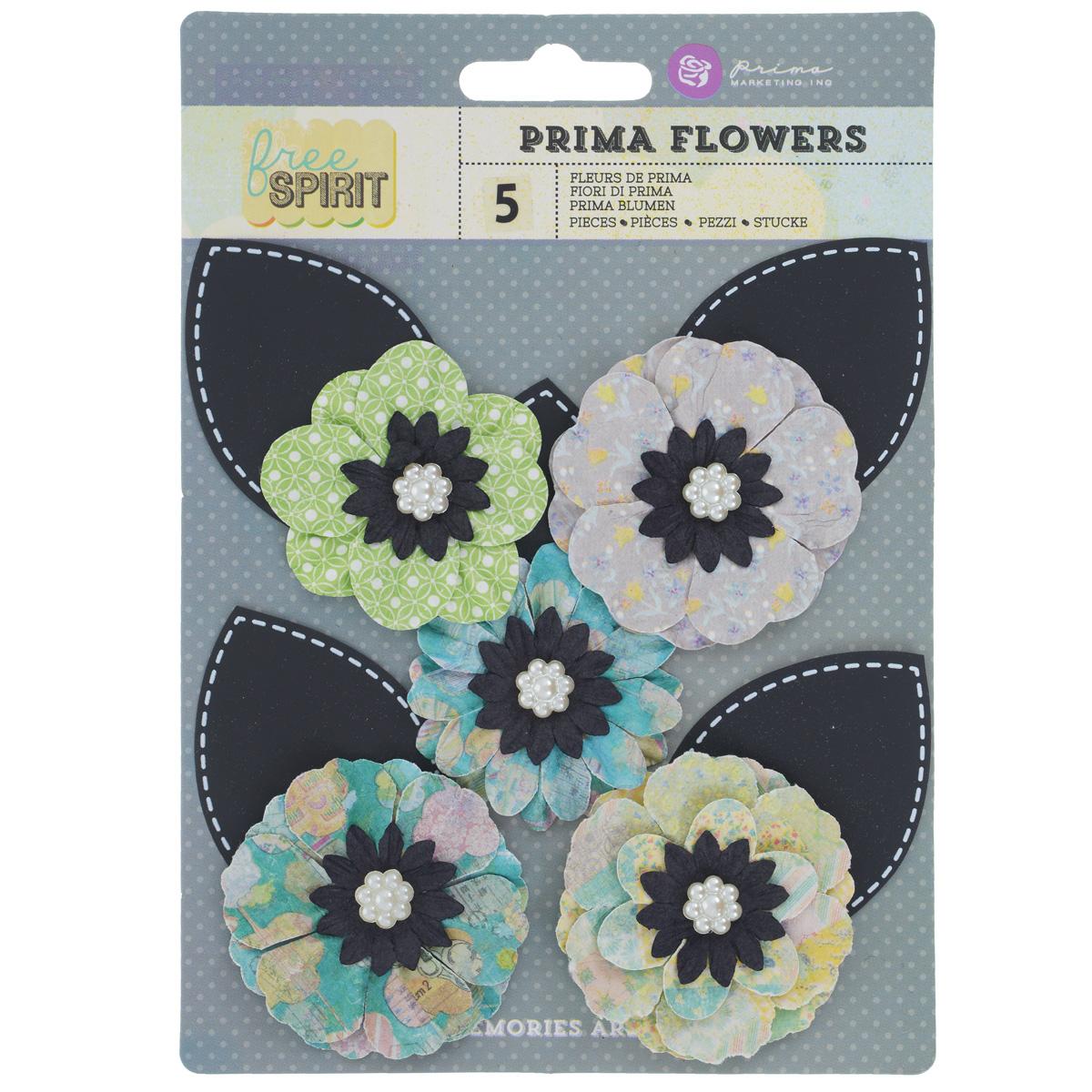 Декоративный элемент Prima Flowers Bell Bottoms, 5 шт574260Набор Prima Flowers Bell Bottoms, изготовленный из бумаги, состоит из 5 декоративных элементов в виде небольших цветков. Изделия украшены пластиковым жемчугом и предназначены для декорирования. Цветы идеально подойдут для свадебных, винтажных творческих работ, украшения фотоальбомов, дневников, блокнотов. Они могут пригодиться в оформлении подарков, а также в скрапбукинге. Декоративные элементы можно приклеить. Средний диаметр элемента: 5 см.