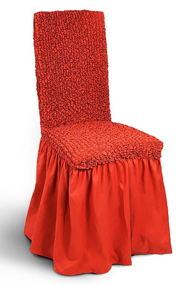 Чехол с юбкой на стул Еврочехол «Микрофибра», цвет: терракотовый, 40-60 см  тумбочка из дерева своими руками фото