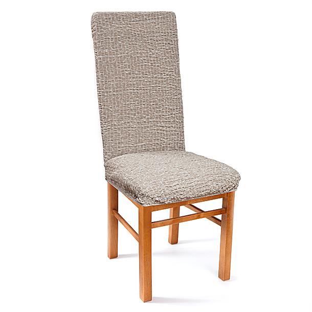 Чехол на стул Еврочехол Плиссе, цвет: льняной, 40-60 см7/50-11Чехол на стул Плиссе выполнен из 50% хлопка, 50% полиэстера. Еврочехол имеет цельную конструкцию, благодаря которой он полностью облегает спинку и сиденье. Излишки ткани (это важно и для фиксации чехла на стуле) легко убираются в расстояние между спинкой и сиденьем. Этот чехол эффектно впишется в интерьеры различных стилей, от романтизма до модерна. Благодаря прочности ткани этот Еврочехол станет прекрасным решением для владельцев домашних животных. А натуральный состав ткани гипоаллергенен и безопасен для малышей или людей пожилого возраста. Стильная и функциональная расцветка придаст помещению изысканность и легкость. Еврочехол послужит не только практичной защитой для вашей мебели, но и приятно удивит вас мягкостью ткани и итальянским качеством производства. Растяжимость чехла по спинке (без учета подлокотников): 40-60 см.