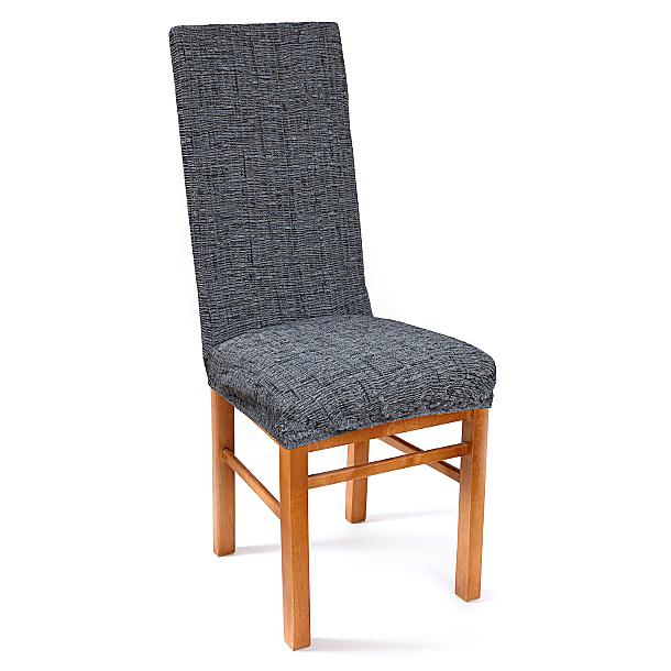 Чехол на стул Еврочехол Плиссе, цвет: графит, 40-60 см7/51-11Чехол на стул Плиссе выполнен из 50% хлопка, 50% полиэстера. Еврочехол имеет цельную конструкцию, благодаря которой он полностью облегает спинку и сиденье. Излишки ткани (это важно и для фиксации чехла на стуле) легко убираются в расстояние между спинкой и сиденьем. Этот чехол эффектно впишется в интерьеры различных стилей, от романтизма до модерна. Благодаря прочности ткани этот Еврочехол станет прекрасным решением для владельцев домашних животных. А натуральный состав ткани гипоаллергенен и безопасен для малышей или людей пожилого возраста. Стильная и функциональная расцветка придаст помещению изысканность и легкость. Еврочехол послужит не только практичной защитой для вашей мебели, но и приятно удивит вас мягкостью ткани и итальянским качеством производства. Растяжимость чехла по спинке (без учета подлокотников): 40-60 см.