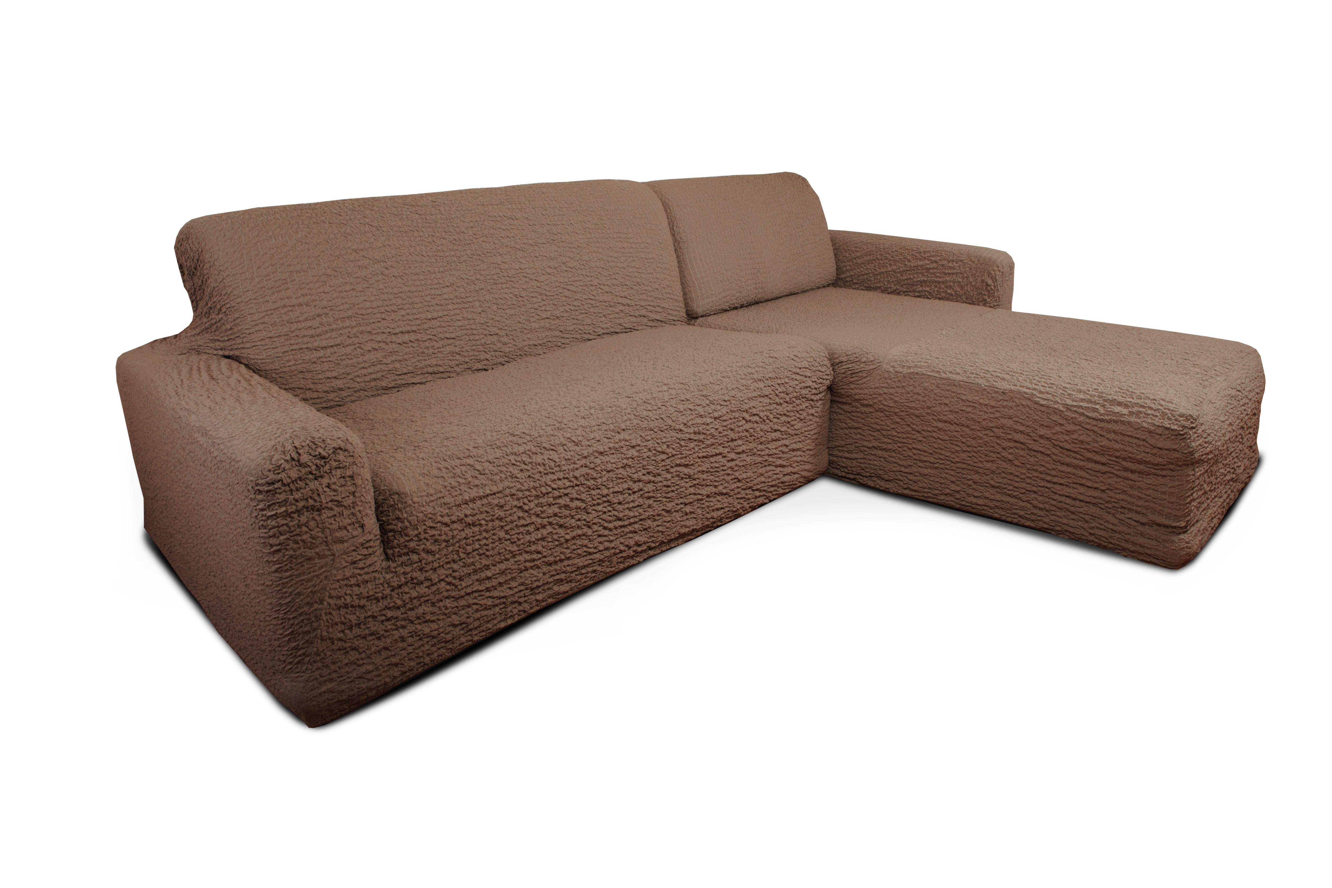 Еврочехол на угловой диван с выступом справа Модерн Какао1/3-10Чехол «Какао» - прекрасный вариант для защиты Вашей мебели от постоянных воздействий. Этот чехол, благодаря прочности ткани, станет идеальным решением для владельцев домашних животных. Кроме того, натуральный состав ткани гипоаллергенен, а потому безопасен для малышей или людей пожилого возраста. «Какао» - одна из популярных моделей еврочехлов серии Модерн. Еврочехол Модерн «Какао» - настоящая классика спокойного интерьера. Этот чехол для мебели создан специально для Вашей мебели. Нежный бежевый цвет «Какао» наполнит гостиную, детскую, кухню, прихожую или спальню атмосферой уюта, нежности, душевного равновесия и комфорта. Любителям скандинавского стиля, стиля модерн, фьюжн, кантри, минимализма и классики «Какао» особенно приглянется. Надежная защита для мебели, отличный вариант для смены интерьера, удивительно мягкая фактура ткани – все это воплощает в себе Модерн «Какао». Состав: 60% хлопок, 35% полиэстер, 5% эластан. Растяжимость чехла по спинке (без учета подлокотников): от 300...