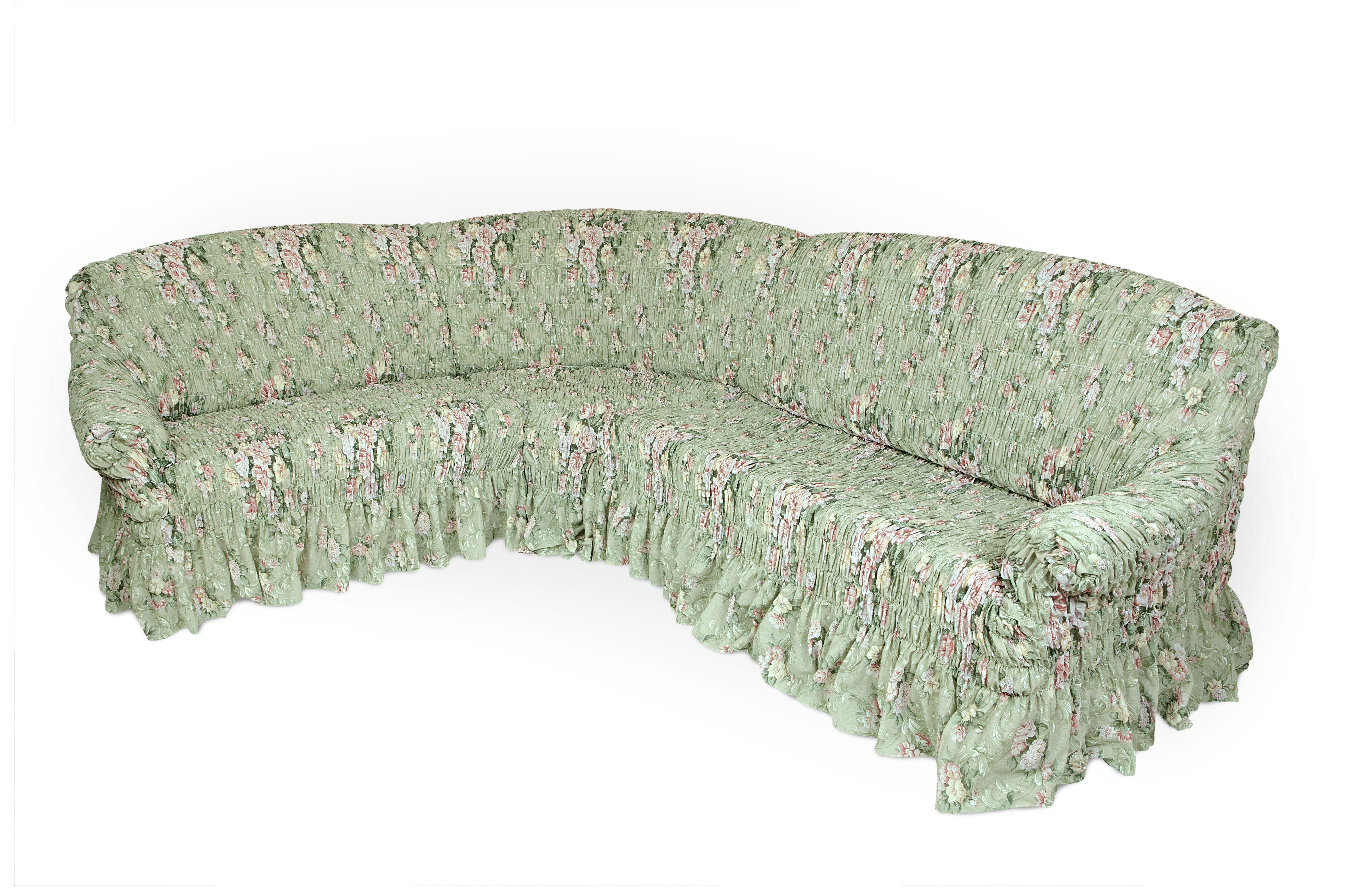 Чехол на угловой диван Еврочехол Фантазия. Феличита, 380-530 см2/14-8Чехол на классический угловой диван Еврочехол Фантазия. Феличита выполнен из 50% хлопка, 50% полиэстера. Он идеально подойдет для тех, кто хочет защитить свою мебель от постоянных воздействий. Этот чехол, благодаря прочности ткани, станет идеальным решением для владельцев домашних животных. Кроме того, натуральный состав ткани гипоаллергенен, а потому безопасен для малышей или людей пожилого возраста. Такой чехол отлично впишется в любой интерьер. Еврочехол послужит не только практичной защитой для вашей мебели, но и приятно удивит вас мягкостью ткани и итальянским качеством производства. Растяжимость чехла по спинке (без учета подлокотников): 380-530 см.
