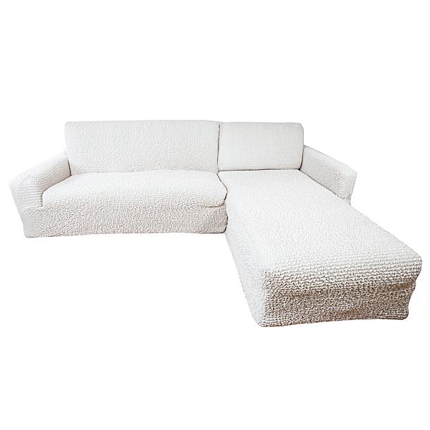 Еврочехол на угловой диван с выступом справа Микрофибра Ваниль3/22-10Чехол для мебели «Ваниль» идеально подойдет для тех, кто хочет защитить свою мебель от постоянных воздействий. Этот еврочехол, благодаря прочности ткани, станет идеальным решением для владельцев домашних животных. Кроме того, натуральный состав ткани гипоаллергенен, а потому безопасен для малышей или людей пожилого возраста. «Ваниль» - самая популярная из всего ассортимента модель еврочехлов. Светлый тон еврочехла универсален, а потому модель и остается актуальной. Еврочехол Микрофибра «Ваниль» отлично вписывается в любой интерьер, особенно, если это классический стиль, конструктивизм, минимализм, постмодернизм, контемпорари. Еврочехол «Ваниль» послужит не только практичной защитой для Вашей мебели, но и приятно удивит Вас мягкостью ткани и итальянским качеством производства. Состав: 100% микрофибра. Растяжимость чехла по спинке (без учета подлокотников): от 300 до 450 сантиметров. Оттенок: Ваниль (светлый, с нежно-розовым оттенком). Стирка: Машинная, рекомендуемая температура -...
