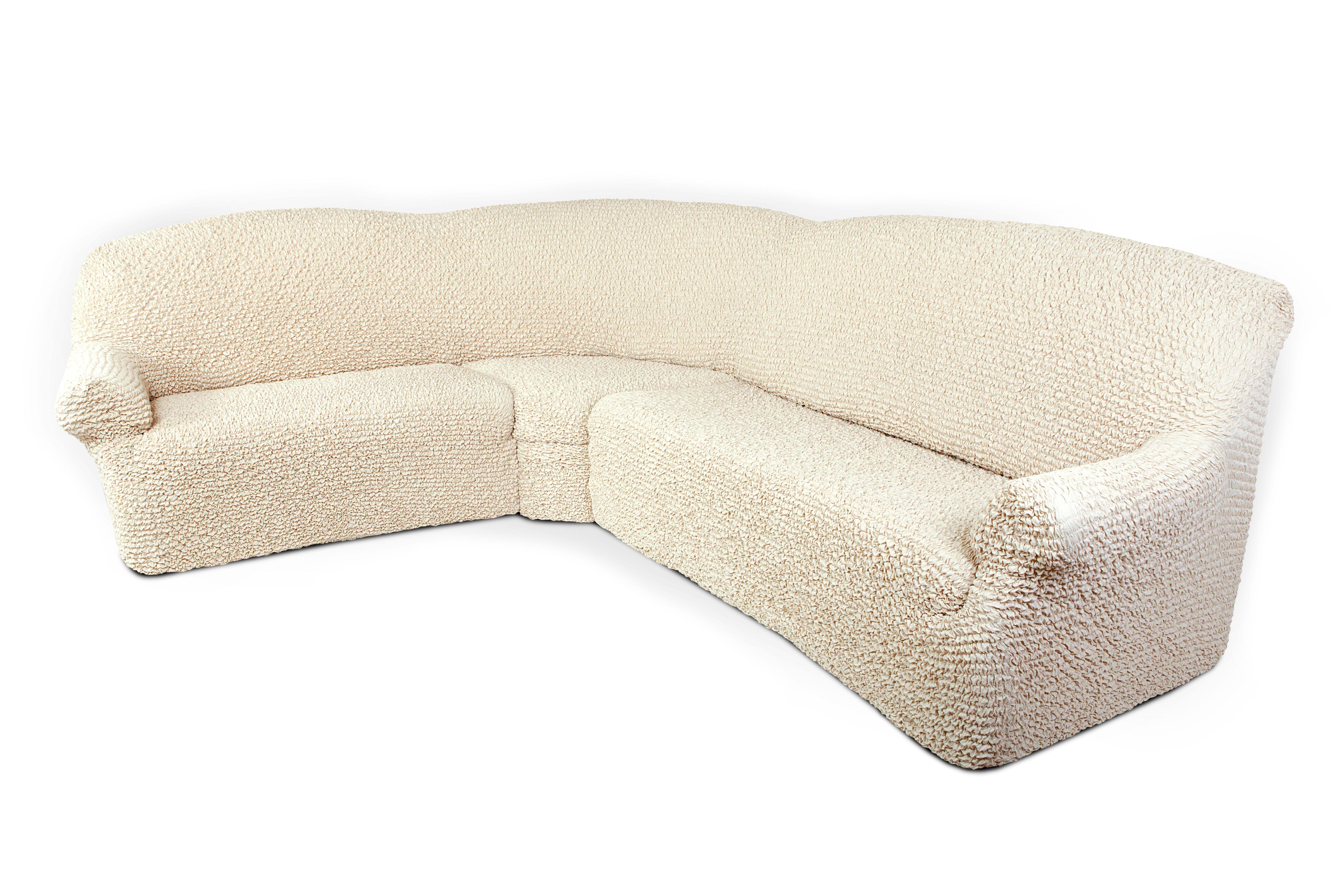 Чехол на угловой диван Еврочехол Микрофибра, цвет: ванильный, 380-550 см3/22-8Чехол на классический угловой диван Еврочехол Микрофибра выполнен из 100% полиэстера. Он идеально подойдет для тех, кто хочет защитить свою мебель от постоянных воздействий. Этот чехол, благодаря прочности ткани, станет идеальным решением для владельцев домашних животных. Кроме того, состав ткани гипоаллергенен, а потому безопасен для малышей или людей пожилого возраста. Такой чехол отлично впишется в любой интерьер. Еврочехол послужит не только практичной защитой для вашей мебели, но и приятно удивит вас мягкостью ткани и итальянским качеством производства. Растяжимость чехла по спинке (без учета подлокотников): 380-550 см.
