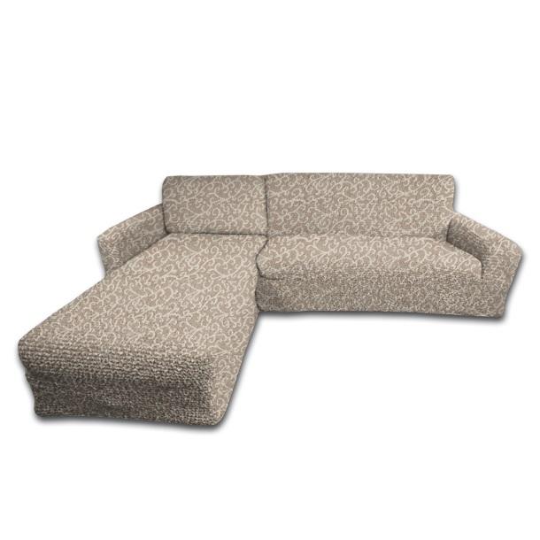 Еврочехол на угловой диван с выступом слева