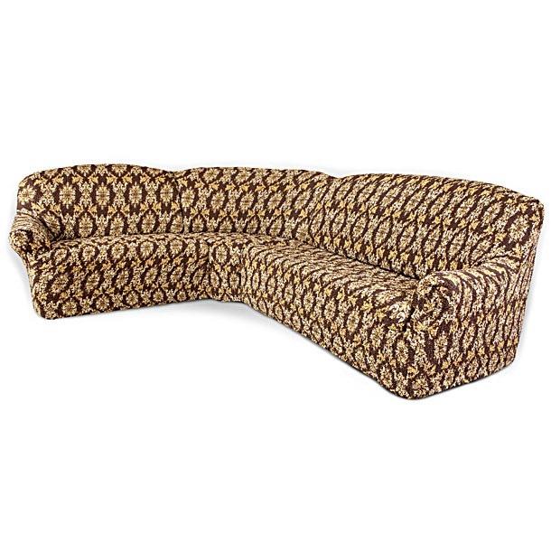 Еврочехол на классический угловой диван «Виста» Классик Коричневый  диван кровать казань цена