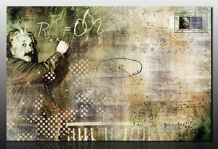 Картина Композиция с Энштейном, смешанная техника, холст, подрамник, жикле, акрил, 100х65 см, автор Светлана СергееваР1 (100х65)Картина Композиция с Энштейном выглядит современно и стильно. Это идеальный подарок на день рождения. А также шикарное украшение вашего офиса. Если вы молодой и креативный - то этот подарок для вас. Тем более, что это не просто печать на холсте, это индивидуальная работа художника. Акриловые краски придают объем и неповторимость холсту. Галерейная натяжка обеспечивает законченность, и картина не нуждается в обрамлении. Спешите украсить вашу жизнь.