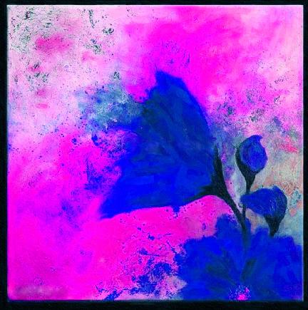Картина Композиция с цветком №1, смешанная техника, холст, подрамник, жикле, акрил, 60х60 см, автор Светлана СергееваЦ3 (60х60)Картина Композиция с цветком №1 - яркая работа с необычным синим цветком. В ней эффектно сочетаются контрастные цветовые пятна. Картина на холсте, пропись акриловыми красками, покрытие лаком, галерейная натяжка на подрамник. Она станет прекрасным подарком для тех, кто хочет что-то необычное, но не готов совсем отказаться от конкретных образов.