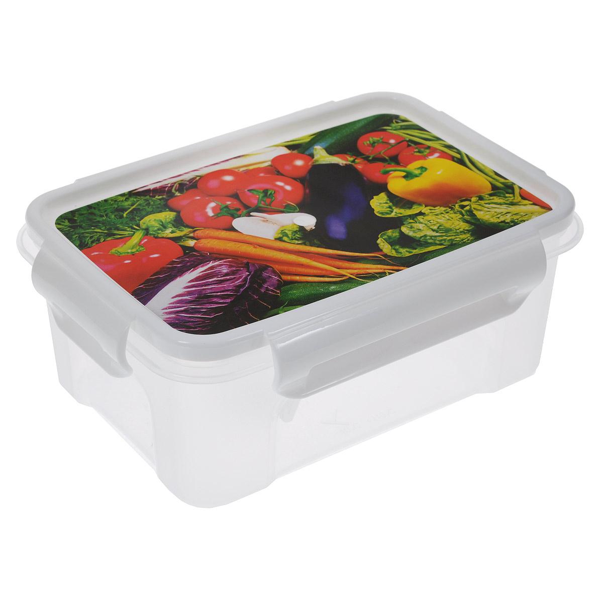 Контейнер Полимербыт Лок декор, 750 млС76101Контейнер Полимербыт Лок декор прямоугольной формы, изготовленный из прочного пластика, предназначен специально для хранения пищевых продуктов. Крышка, декорированная изображением овощей, легко открывается и плотно закрывается. Контейнер устойчив к воздействию масел и жиров, легко моется. Прозрачные стенки позволяют видеть содержимое. Контейнер имеет возможность хранения продуктов глубокой заморозки, обладает высокой прочностью. Можно мыть в посудомоечной машине. Подходит для использования в микроволновых печах.