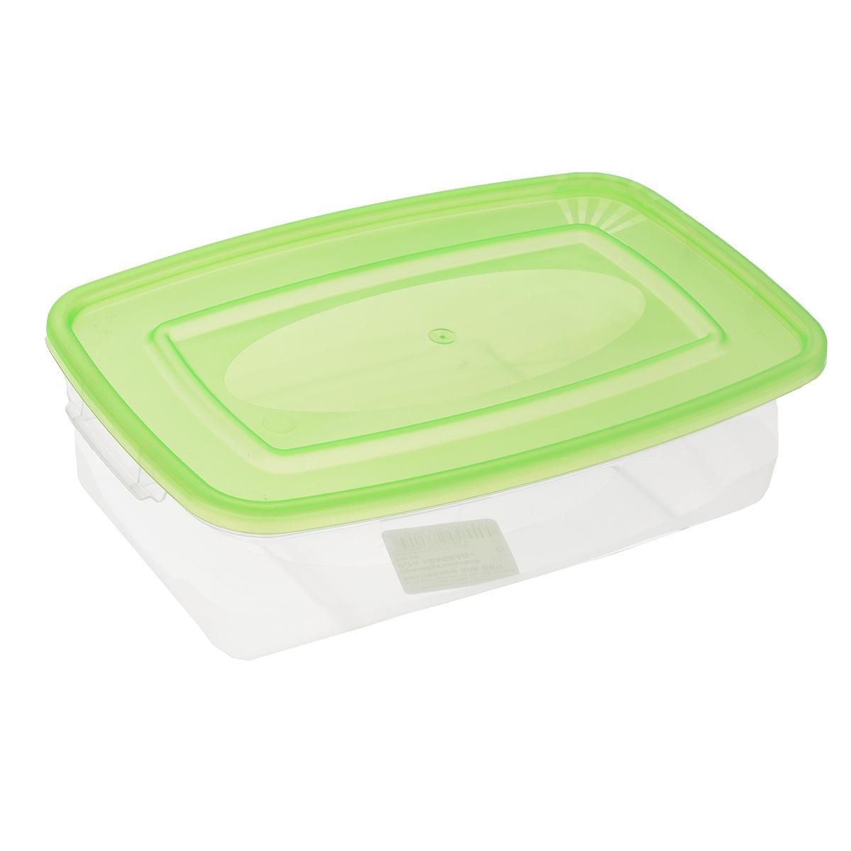 Контейнер для СВЧ Полимербыт Каскад, цвет: зеленый, прозрачный, 700 млС540Прямоугольный контейнер для СВЧ Полимербыт Каскад изготовлен из высококачественного прочного пластика, устойчивого к высоким температурам (до +120°С). Стенки контейнера прозрачные, что позволяет видеть содержимое. Цветная полупрозрачная крышка плотно закрывается. Контейнер идеально подходит для хранения пищи, его удобно брать с собой на работу, учебу, пикник или просто использовать для хранения пищи в холодильнике. Можно использовать в микроволновой печи и для заморозки в морозильной камере. Можно мыть в посудомоечной машине.
