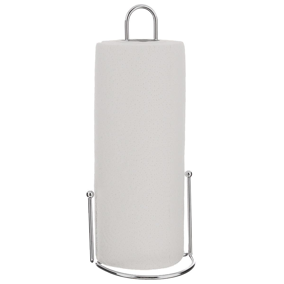 Держатель для бумажных полотенец Zeller24858Держатель для бумажных полотенец Zeller изготовлен из металла с хромированной поверхностью. Круглое основание обеспечивает устойчивость подставки. Вы можете установить ее в любом удобном месте. Держатель подходит для всех видов кухонных полотенец. Такой держатель для бумажных полотенец станет полезным аксессуаром в домашнем быту и идеально впишется в интерьер современной кухни. В комплекте с держателем - рулон бумажных полотенец для рук. Диаметр основания держателя: 12 см. Высота держателя: 31 см.