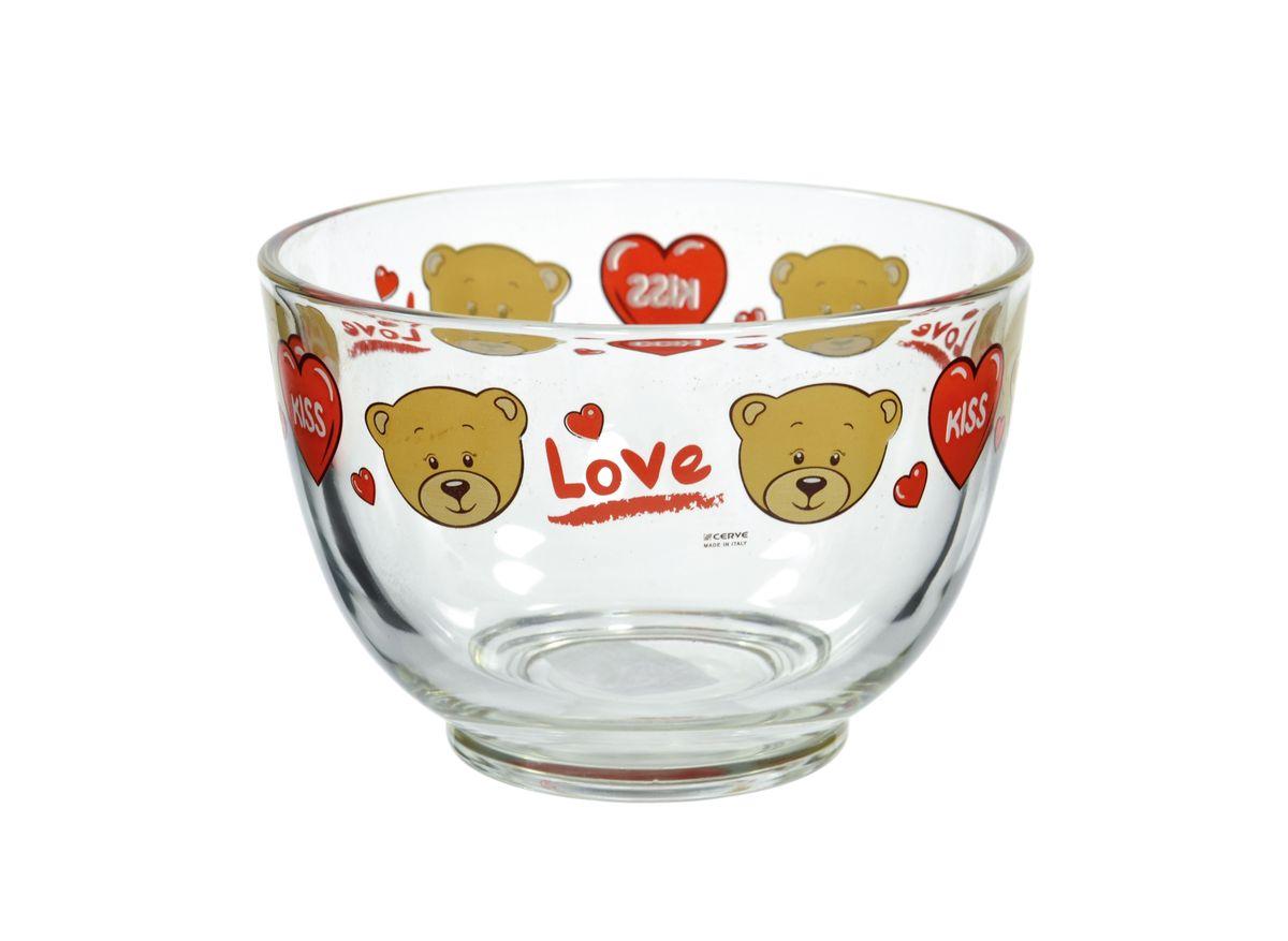 Салатница Cerve Тедди, цвет: прозрачный, коричневый, 690 млCED26040Салатница Cerve Тедди изготовлена из прочного стекла и декорирована красочным рисунком. Она легко моется в теплой воде. Яркая салатница станет украшением вашего стола и прекрасно подойдет для использования, как дома, так и на даче или пикниках. Можно мыть в посудомоечной машине. Объем салатницы: 690 мл. Диаметр салатницы (по верхнему краю): 13 см. Высота стенки салатницы: 9 см.