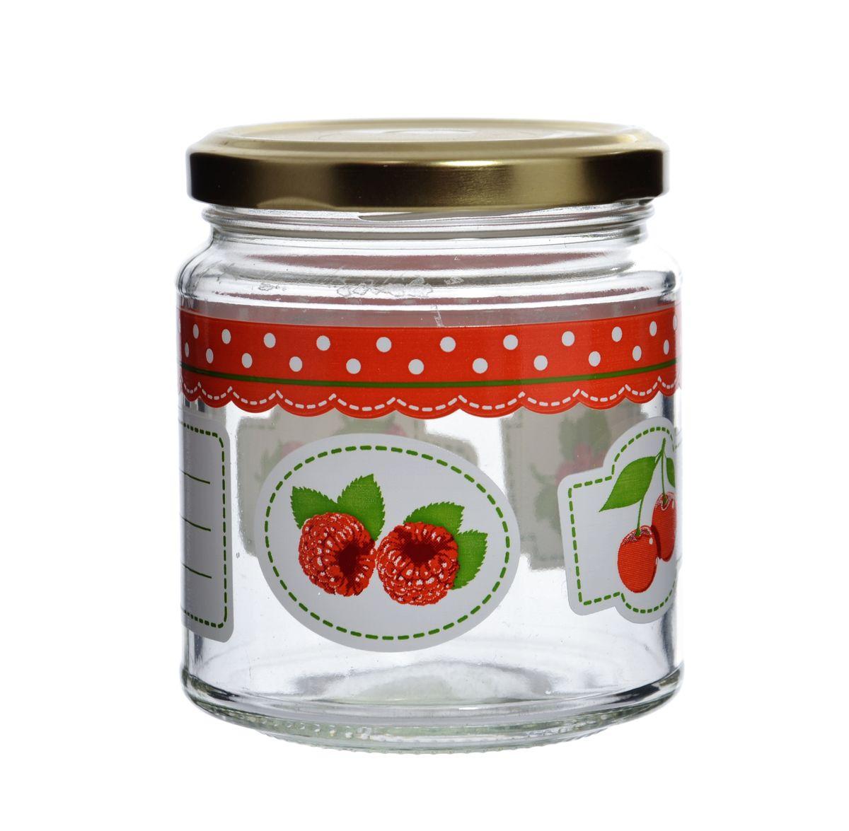 Банка Cerve Фруктовая фантазия, с крышкой, 300 млCEM48340Банка Cerve Фруктовая фантазия выполнена из стекла и декорирована изображением ягод. Имеется поле для записей. Емкость снабжена металлической закручивающейся крышкой. Такая банка подойдет для хранения сыпучих продуктов, а также варенья или меда. Полезное приобретение на кухню для любой хозяйки. Можно мыть в посудомоечной машине.
