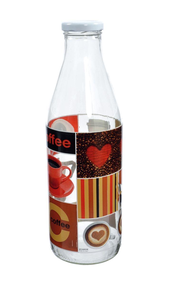 Бутылка Cerve Любимый кофе, 1 лCEM50100Бутылка Cerve Любимый кофе, выполненная из стекла, позволит украсить любую кухню, внеся разнообразие, как в строгий классический стиль, так и в современный кухонный интерьер. Она легка в использовании и оснащена металлической закручивающейся крышкой. Благодаря этому внутри сохраняется герметичность, и напитки дольше остаются свежими. Стенки бутылки украшены изображением кофейных зерен и чашек с кофе. Оригинальная бутылка будет отлично смотреться на вашей кухне. Диаметр (по верхнему краю): 3,5 см. Диаметр основания: 7,5 см. Высота: 26,5 см.