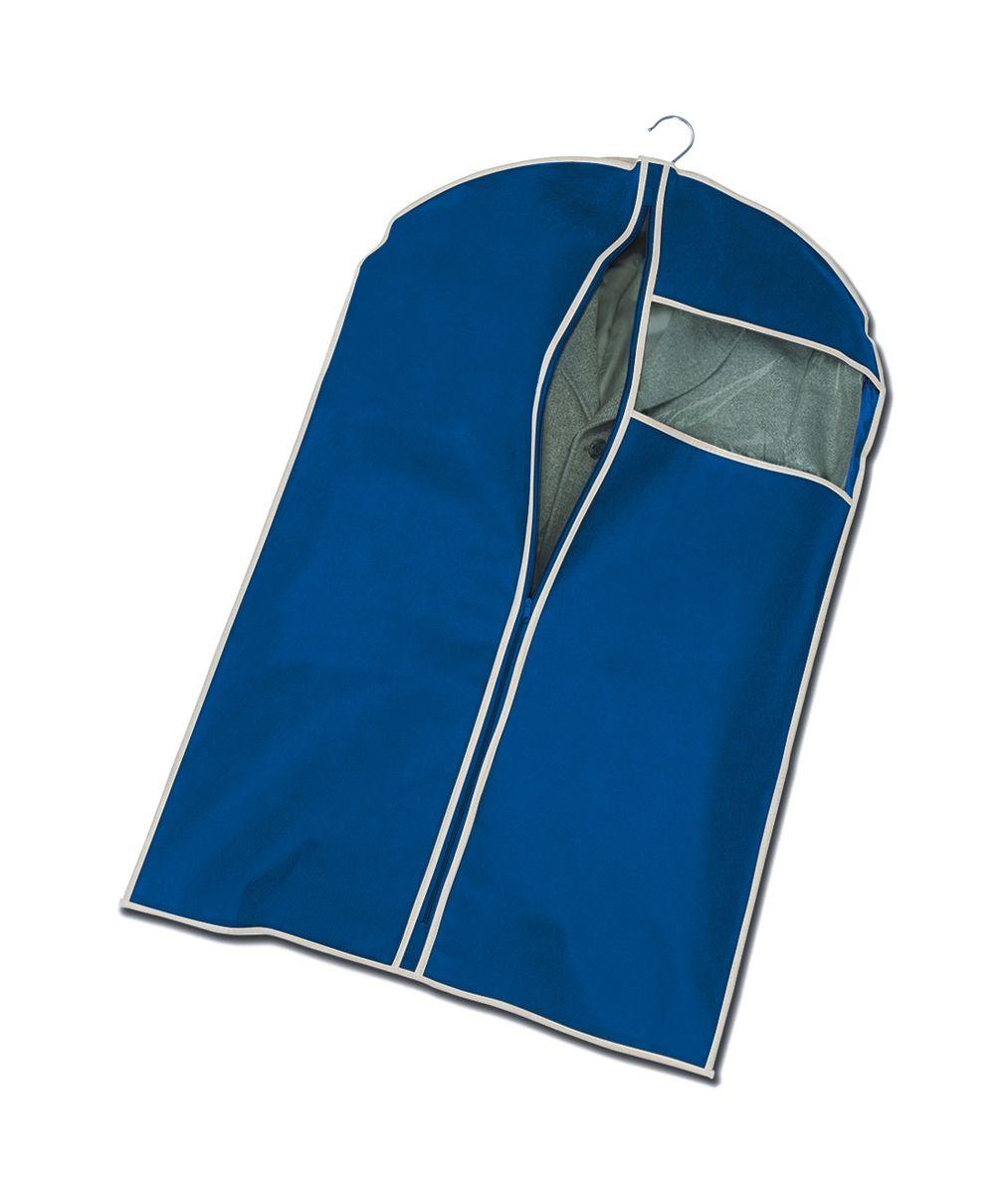 Чехол для пиджака Cosatto, подвесной, цвет: синий, 100 х 60 смCOVLCAT020Подвесной чехол для пиджака Cosatto изготовлен из высококачественного полипропилена, который обеспечивает естественную вентиляцию, позволяя воздуху проникать внутрь, но не пропускает пыль. Чехол очень удобен в использовании, а благодаря его форме, одежда не мнется даже при длительном хранении. Специальная прозрачная вставка позволяет видеть содержимое внутри чехла, не открывая его. Изделие легко открывается и закрывается застежкой-молнией. Чехол для пиджака будет очень полезен при транспортировке вещей на близкие и дальние расстояния, при длительном хранении сезонной одежды, а также при ежедневном хранении вещей из деликатных тканей.