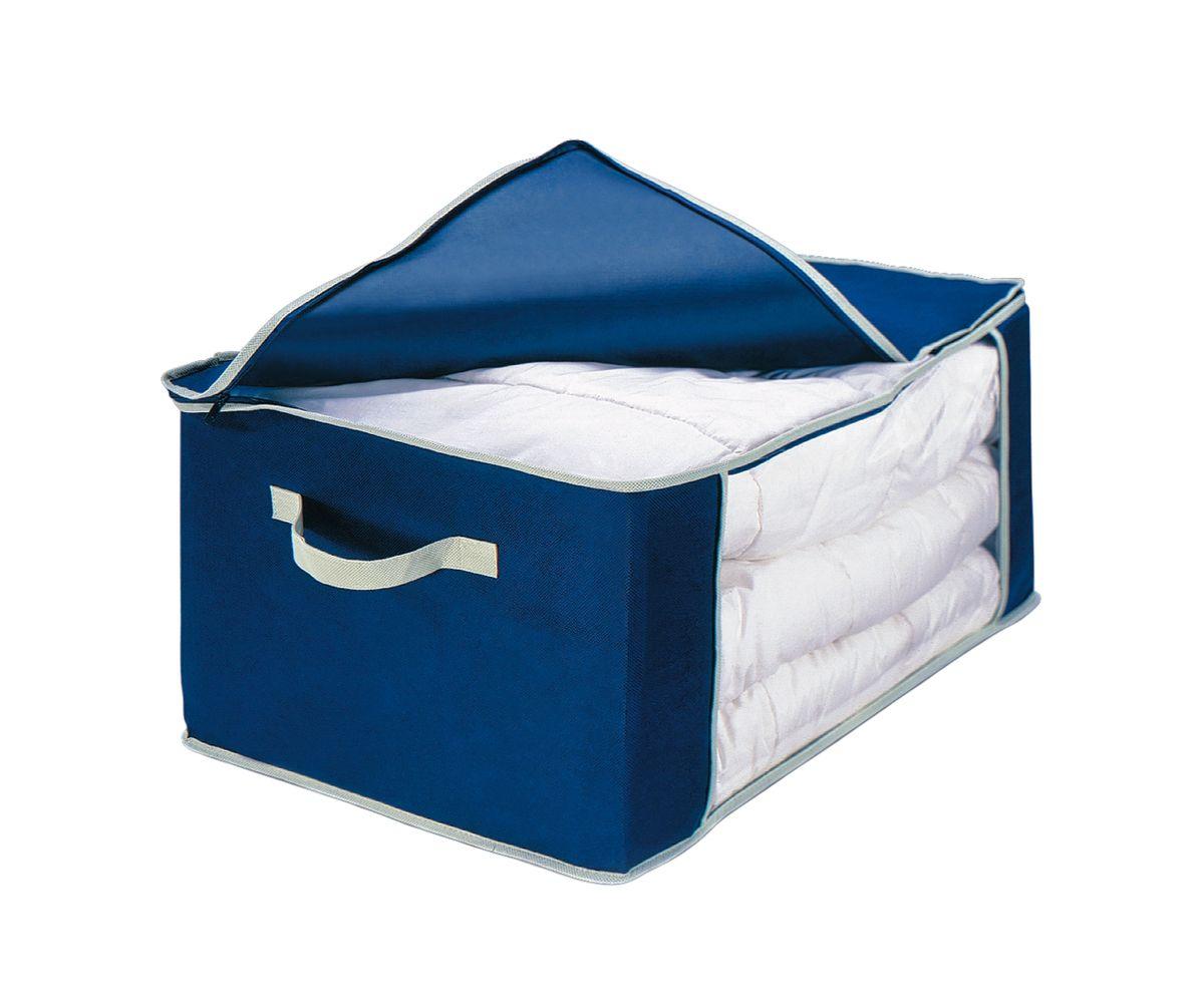 Чехол для одеяла Cosatto, складной, цвет: синий, 60 x 45 x 30 смCOVLCAT060Чехол для пухового одеяла Cosatto, изготовленный из дышащего полипропилена, предназначен для хранения одеял, пледов и домашнего текстиля. Полипропилен позволяет воздуху проникать внутрь, при этом надежно защищая вещи от грязи, пыли и насекомых. Имеется специальная прозрачная вставка, которая позволяет легко определить содержимое. Крышка чехла закрывается на молнию высокой прочности. Оригинальный дизайн сделает вашу гардеробную красивой и невероятно стильной. Размер чехла (в собранном виде): 60 см х 45 см х 30 см.