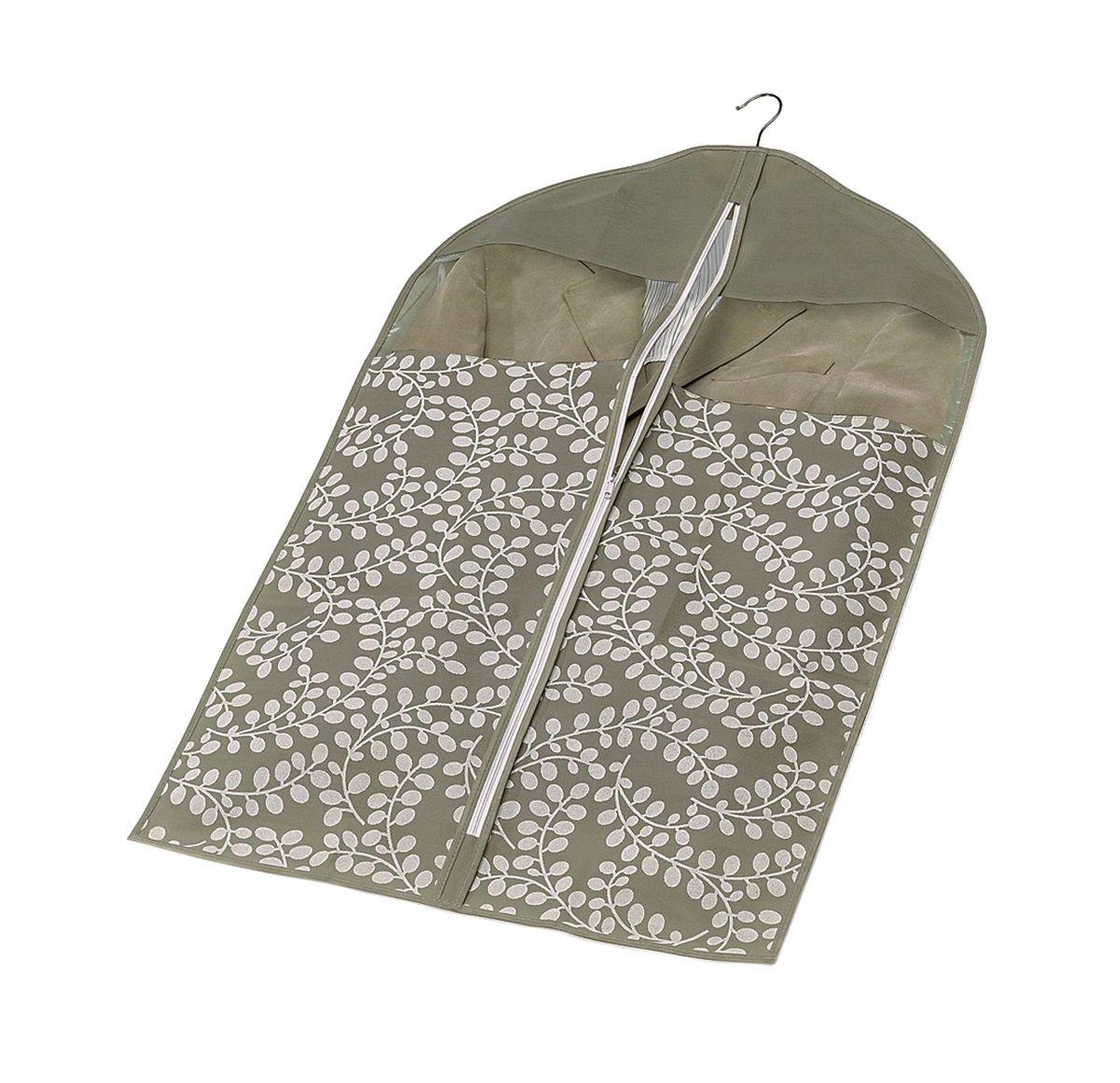 Чехол для пиджака с молнией 100*60см Флораль. COVLCATF20COVLCATF20Легкий чехол из дышащего нетканого материала (полипропилен), безопасного в использовании, для курток, пиджаков и жакетов. Имеет два прозрачных окна, замок и специальное отверстие для крючка вешалки. Материал можно протирать в случае загрязнения влажной салфеткой или тряпкой. Надежно защищает от пыли, моли, солнечных лучей и загрязнения.
