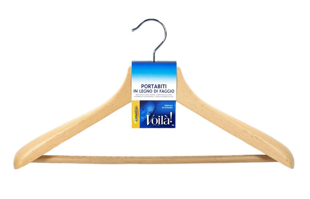 Вешалка дерев.широкая с перекл. бук. COVLPALN81COVLPALN81Деревянные вешалки для одежды Cosatto изготовлены из натуральной крашеной, специально обработанной древесины (массив бука), защищенной бесцветным лаком от проникновения влаги, деформации или разбухания. Все металлические части вешалок - перекладины, крючки, клипсы, зажимы - сделаны из нержавеющей стали с напылением, препятствующим окислению и ржавчине. Деревянные вешалки и плечики Cosatto изготавливаются из Европейского сырья и соответствуют строгим санитарно-гигиеническим нормам Евросоюза.