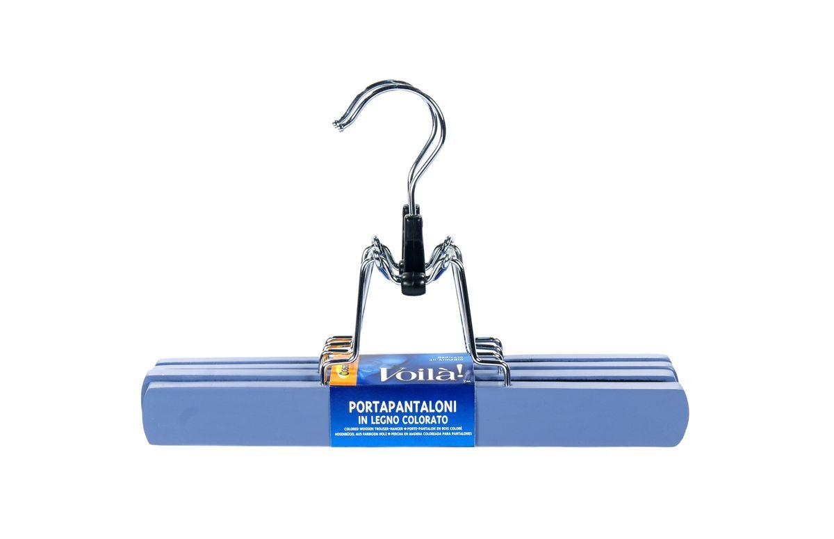 Вешалка-зажим для брюк Cosatto, цвет: голубой, 2 штCOVLPALT45Деревянная вешалка для одежды Cosatto изготовлена из натуральной крашеной, специально обработанной древесины (массив бука), защищенной бесцветным лаком от проникновения влаги, деформации или разбухания. Вешалка предназначена специально для брюк. Все металлические части вешалки изготовлены из нержавеющей стали с напылением, препятствующим окислению и ржавчине. Вешалка - это незаменимая вещь для того, чтобы ваша одежда всегда оставалась в хорошем состоянии. Размеры вешалки: 25 см х 2 см х 17 см.