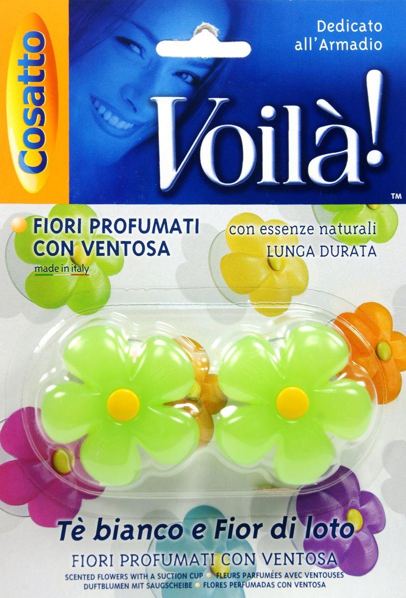 Ароматизатор для шкафа Цветы. Белый чай и фрукты, на присоске , 2 шт. COVLPBF004COVLPBF004Ароматизаторы представляют собой ароматизированную смолу из натуральных цветочных эссенций в форме цветка на прозрачной присоске. Обладают длительным действием и долго не выветриваются. Безопасны в применении. Пригодны для крепления к любой вертикальной ровной глянцевой поверхности, будь то стекло, зеркало или пластик. Можно использовать в жилых помещениях (спальная и гостиная комнаты, ванная, гардероб), шкафах и комодах. Также применимо как ароматизатор в автомобиле. Во избежание окрашивания не рекомендуется прислонять цветную поверхность ароматизатора к вещам и одежде. Беречь от высоких температур. Хранить в недоступном для маленьких детей месте. Устойчивый приятный запах в ассортименте: шесть различных ароматов - от имбиря и ванили до тиарэ.