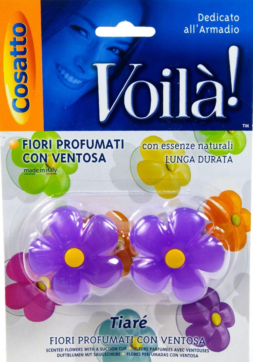 Ароматизатор для шкафа Цветы. Тиарэ, на присоске, 2 шт. COVLPBF006COVLPBF006Ароматизаторы представляют собой ароматизированную смолу из натуральных цветочных эссенций в форме цветка на прозрачной присоске. Обладают длительным действием и долго не выветриваются. Безопасны в применении. Пригодны для крепления к любой вертикальной ровной глянцевой поверхности, будь то стекло, зеркало или пластик. Можно использовать в жилых помещениях (спальная и гостиная комнаты, ванная, гардероб), шкафах и комодах. Также применимо как ароматизатор в автомобиле. Во избежание окрашивания не рекомендуется прислонять цветную поверхность ароматизатора к вещам и одежде. Беречь от высоких температур. Хранить в недоступном для маленьких детей месте. Устойчивый приятный запах в ассортименте: шесть различных ароматов - от имбиря и ванили до тиарэ.