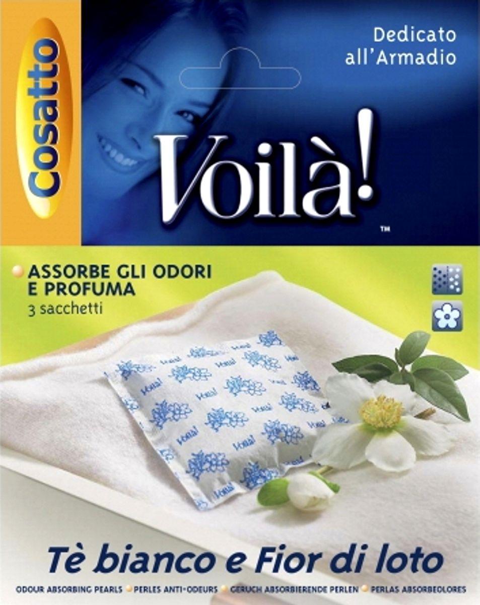 "Cosatto Ароматизатор для шкафа ""Жемчужина. Белый чай, Лотос"", 3 шт. COVLPBP004"