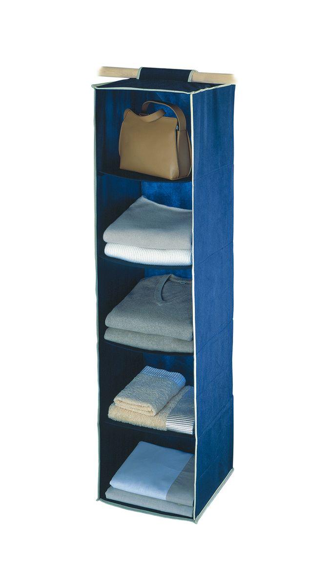 Чехол подвесной Cosatto Voila, цвет: синий, 31 см х 31 см х 120 смCOVLSZT020Подвесной чехол Cosatto Voila изготовлен из дышащего моющегося полиэстера и нетканого материала, прочность каркаса обеспечивается наличием внутри плотных листов картона. Легкая подвесная конструкция с 5 вместительными секциями позволяет удобно хранить одежду, постельное белье, аксессуары или игрушки. Изделие может крепиться на штангу в обычном платяном шкафу или на отдельные напольные или настенные штанги.