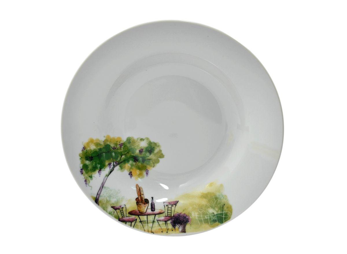 Тарелка глубокая Dasen Дерево, диаметр 20 смDNDS0008-2Тарелка глубокая Dasen Дерево изготовлена из высококачественного фаянса. Предназначена для красивой подачи различных блюд. Изделие украшено ярким рисунком. Такая тарелка украсит сервировку стола и подчеркнет прекрасный вкус хозяйки. Можно мыть в посудомоечной машине и использовать в микроволновой печи. Диаметр: 20 см. Высота: 3,5 см.