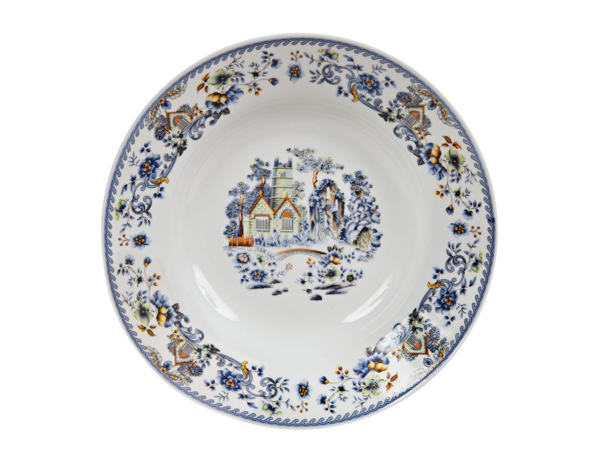 Тарелка Nanshan Porcelain Пейзаж, 22 смGNNSH02480Тарелка Nanshan Porcelain Пейзаж изготовлена из высококачественного фарфора. Предназначена для красивой подачи различных блюд. Изделие декорировано ярким рисунком. Такая тарелка украсит сервировку стола и подчеркнет прекрасный вкус хозяйки. Можно мыть в посудомоечной машине и использовать в СВЧ. Диаметр: 22 см. Высота: 2 см.