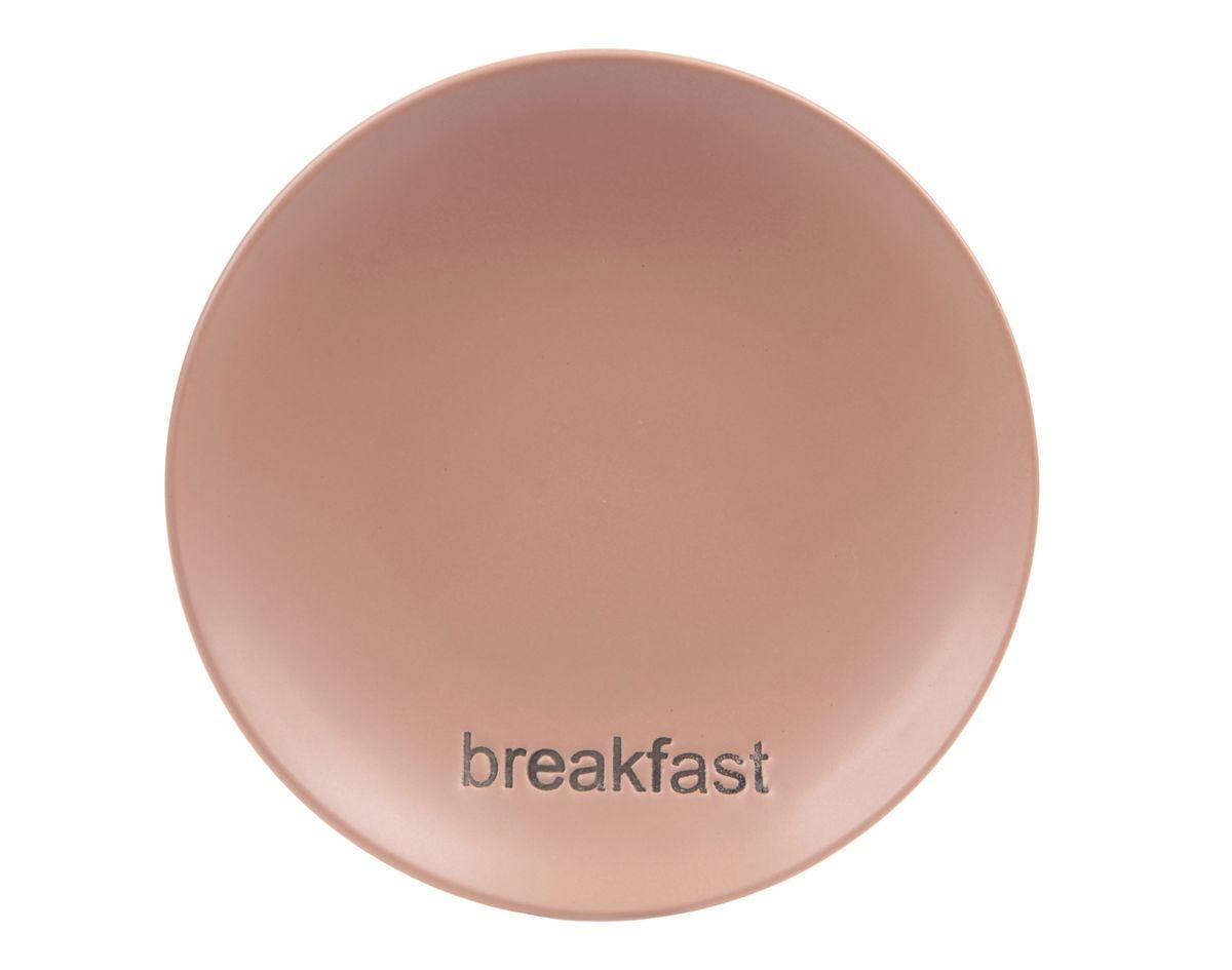 Тарелка Wing Star, цвет: какао, диаметр 18 см. LJ2085LJ2085-MPB17Тарелка Wing Star изготовлена из высококачественной керамики. Предназначена для красивой подачи различных блюд. Изделие декорировано надписью Breakfast. Такая тарелка украсит сервировку стола и подчеркнет прекрасный вкус хозяйки. Можно мыть в посудомоечной машине и использовать в СВЧ. Диаметр: 18 см. Высота: 3 см.