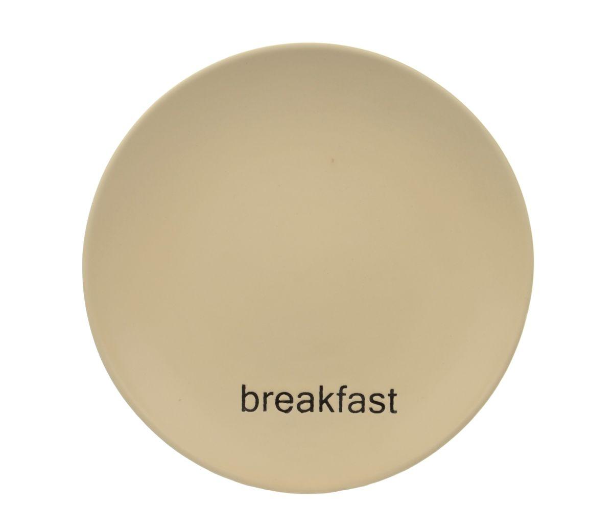 Тарелка Wing Star Breakfast, диаметр 18 смLJ2085-MPB3Тарелка Wing Star Breakfast изготовлена из высококачественной керамики. Предназначена для красивой подачи завтраков. Изделие украшено надписью Breakfast. Такая тарелка украсит сервировку стола и подчеркнет прекрасный вкус хозяйки. Можно мыть в посудомоечной машине и использовать в микроволновой печи. Диаметр: 18 см. Высота: 2 см.