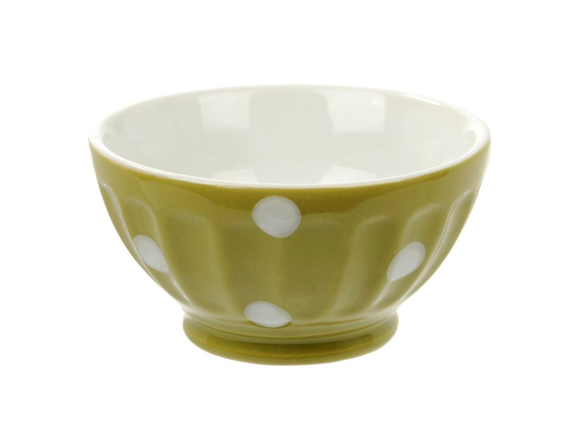 Салатница Kaiwei Веселый горошек, цвет: зеленый, белый, 150 млLK1355-006GСалатница Kaiwei Веселый горошек изготовлена из высококачественной керамики и покрыта цветной глазурью. Глазурь - это кремнеземное стекло, которое, будучи расплавленным при очень высоких температурах в специальных печах для обжига изделий, создает на глине равномерную гладкую прозрачную поверхность. Именно благодаря ей пористая керамика обретает водонепроницаемость. Кроме того, глазурь предохраняет керамические изделия от загрязнения, действия кислот и щелочей и придаёт изделиям декоративные свойства. Можно использовать в микроволновой печи и посудомоечной машине. Объем: 150 мл. Диаметр салатницы (по верхнему краю): 9 см. Высота стенки: 5 см.