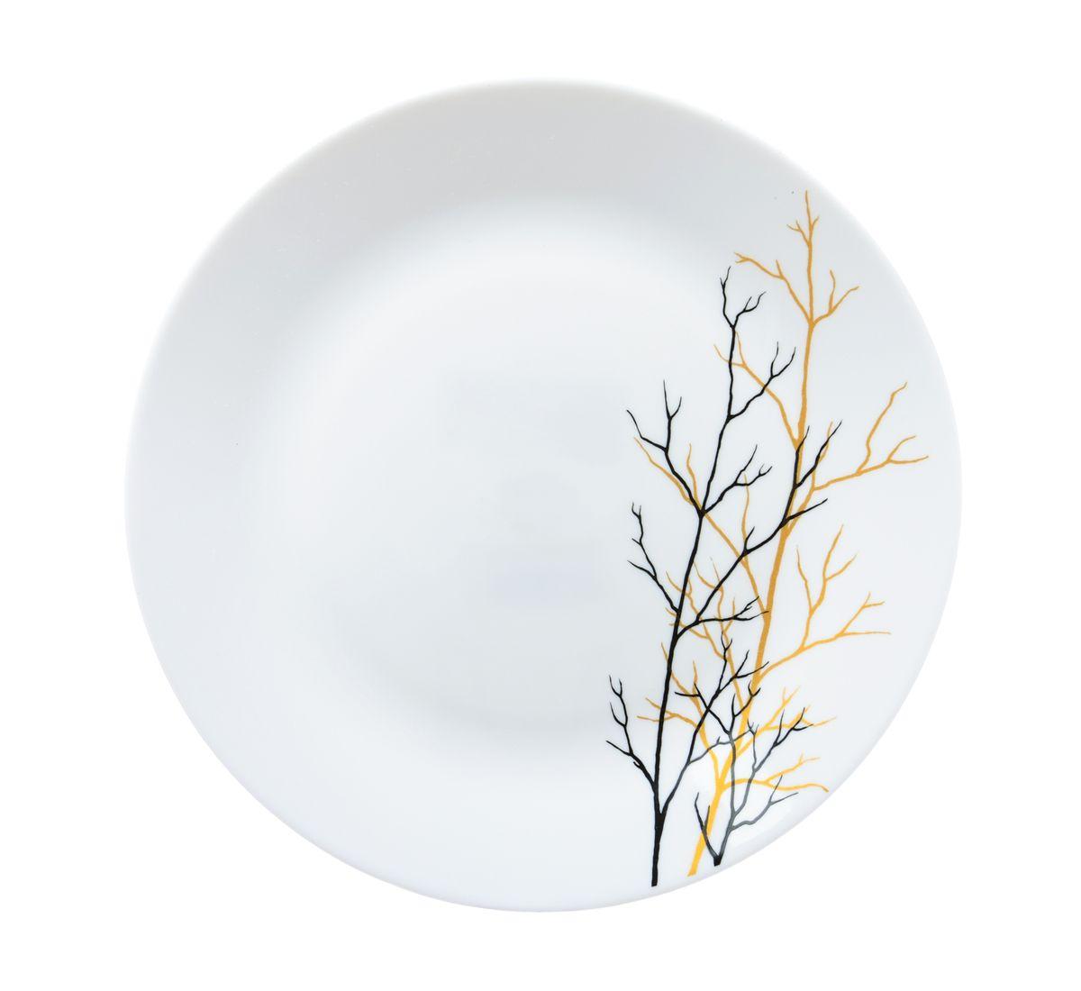 Тарелка для горячего La Opala Золотая осень, диаметр 26,5 смOPAF001Тарелка для горячего La Opala Золотая осень изготовлена из высококачественной стеклокерамики. Предназначена для красивой подачи различных блюд. Изделие декорировано ярким рисунком. Такая тарелка украсит сервировку стола и подчеркнет прекрасный вкус хозяйки. Можно мыть в посудомоечной машине и использовать в СВЧ. Диаметр: 26,5 см. Высота: 2 см.