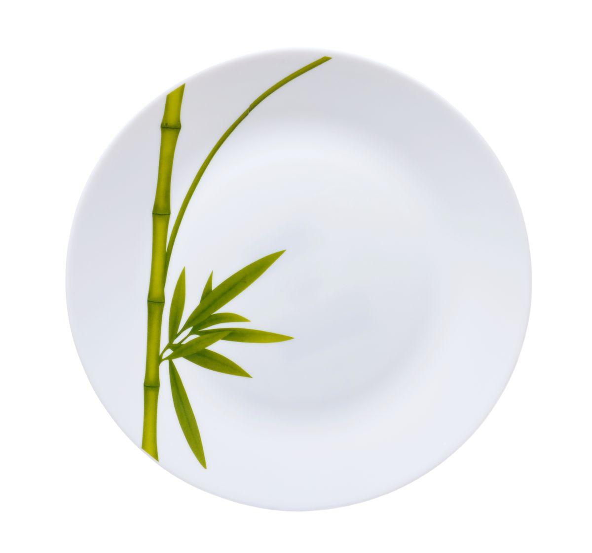 Тарелка для горячего La Opala Бамбук, диаметр 26,5 смOPFG001Тарелка для горячего La Opala Бамбук изготовлена из высококачественной стеклокерамики. Предназначена для красивой подачи различных блюд. Изделие декорировано ярким изображением стебля бамбука. Такая тарелка украсит сервировку стола и подчеркнет прекрасный вкус хозяйки. Можно мыть в посудомоечной машине и использовать в СВЧ. Диаметр: 26,5 см. Высота: 2 см.