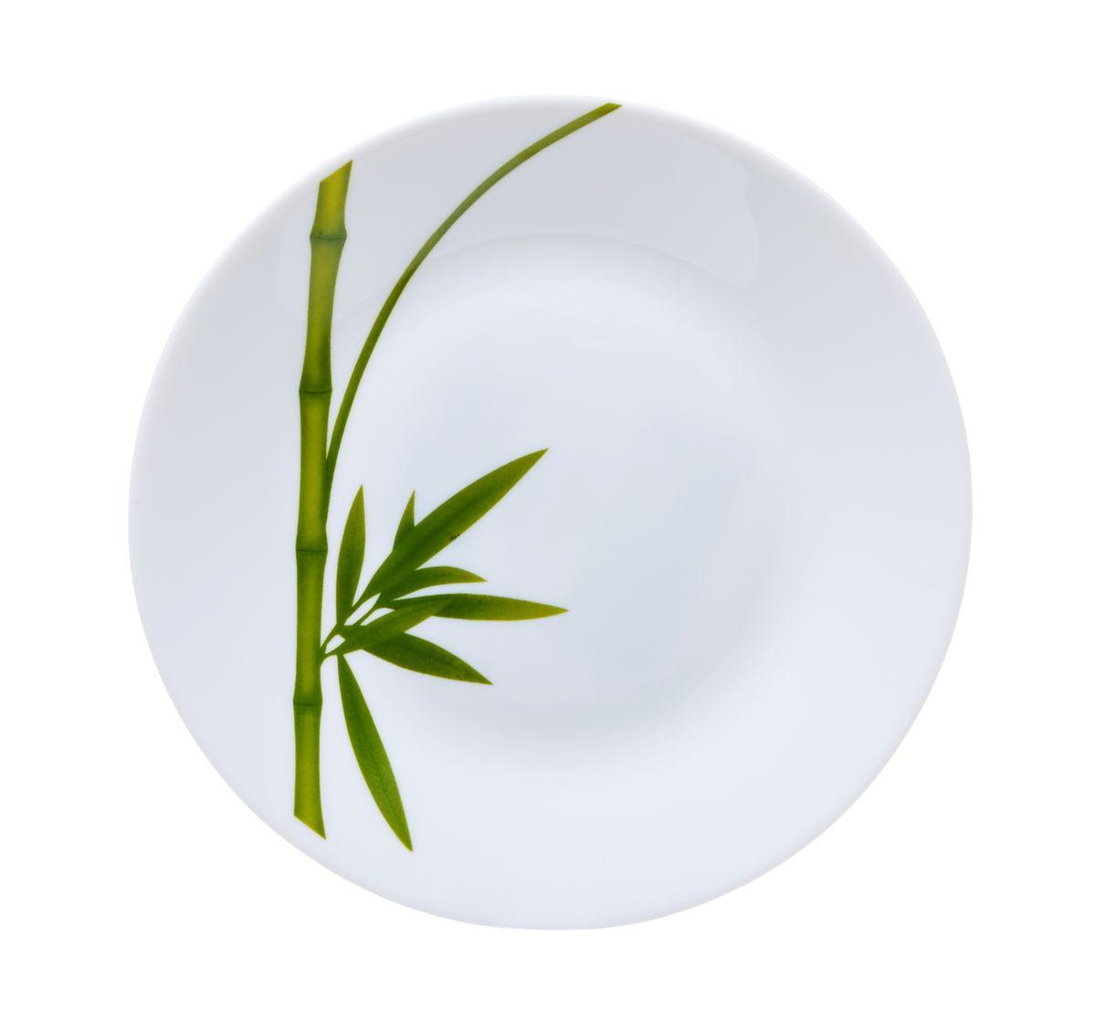 Тарелка десертная La Opala Бамбук, диаметр 19 смOPFG002Тарелка десертная La Opala Бамбук изготовлена из высококачественной стеклокерамики. Предназначена для красивой подачи различных блюд. Изделие украшено ярким рисунком стебля бамбука. Такая тарелка украсит сервировку стола и подчеркнет прекрасный вкус хозяйки. Можно мыть в посудомоечной машине и использовать в микроволновой печи. Диаметр: 19 см. Высота: 2 см.