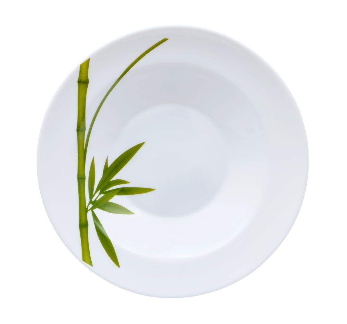 Тарелка глубокая La Opala Бамбук, диаметр 20,5 смOPFG003Тарелка глубокая La Opala Бамбук изготовлена из высококачественной стеклокерамики. Предназначена для красивой подачи различных блюд. Изделие украшено ярким рисунком стебля бамбука. Такая тарелка украсит сервировку стола и подчеркнет прекрасный вкус хозяйки. Можно мыть в посудомоечной машине и использовать в микроволновой печи. Диаметр: 20,5 см. Высота: 3,5 см.