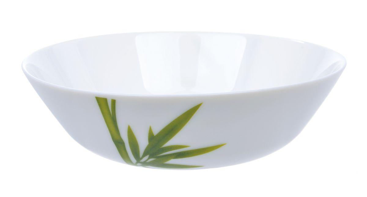 Салатница La Opala Бамбук, цвет: белый, зеленый, диаметр 21смOPFG006Салатница Бамбук покорит вас своей красотой и качеством исполнения. Изделие выполнено из стеклокерамики. Такая салатница прекрасно подходит для холодных и горячих блюд: каш, хлопьев, супов, салатов. Она дополнит коллекцию вашей кухонной посуды и будет служить долгие годы. Можно использовать в посудомоечной машине и СВЧ. Диаметр: 21 см.