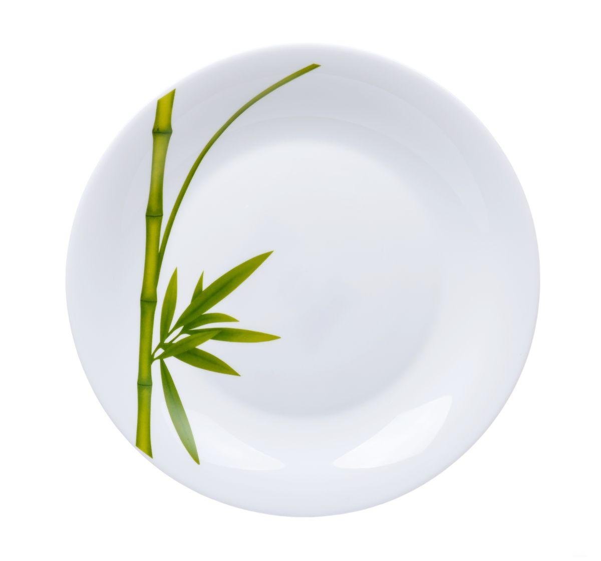 Блюдо La Opala Бамбук, круглое, диаметр 28 смOPFG007Круглое блюдо La Opala Бамбук изготовлено из высококачественной стеклокерамики и декорировано изображением бамбука. Блюдо с высокими бортиками прекрасно подходит для того, чтобы подавать фрукты, конфеты, печенье, пирожки. Крепкое и экологически чистое блюдо - незаменимый и очень полезный аксессуар на кухне. Можно использовать в СВЧ и мыть в посудомоечной машине. Диаметр блюда: 28 см. Высота блюда: 3 см.