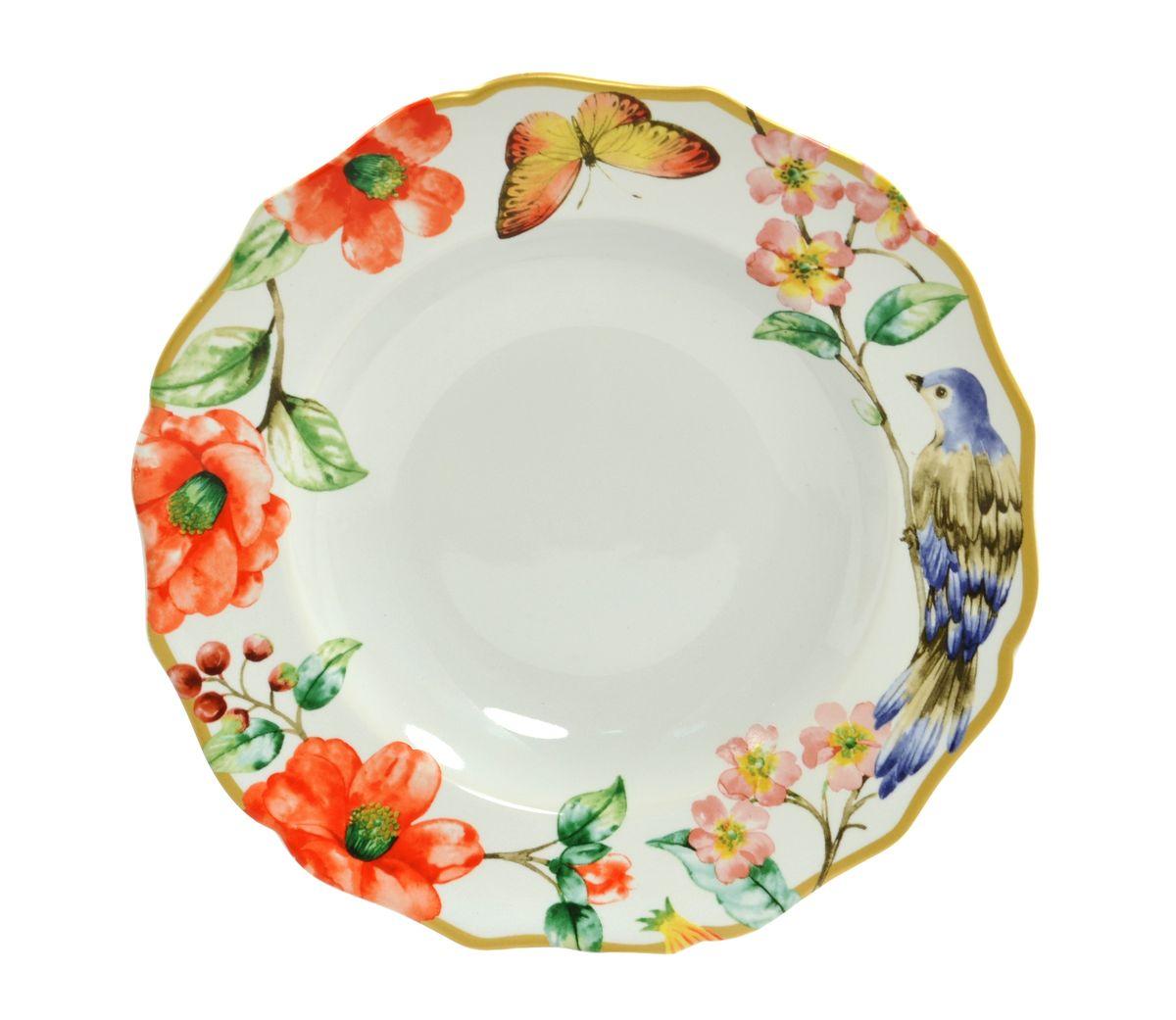 Тарелка глубокая Utana Райский сад, диаметр 23,5 смUTAM94920Тарелка глубокая Utana Райский сад изготовлена из высококачественной керамики. Предназначена для красивой подачи различных блюд. Изделие декорировано ярким рисунком. Такая тарелка украсит сервировку стола и подчеркнет прекрасный вкус хозяйки. Можно мыть в посудомоечной машине и использовать в СВЧ. Диаметр: 23,5 см. Высота: 3,5 см.