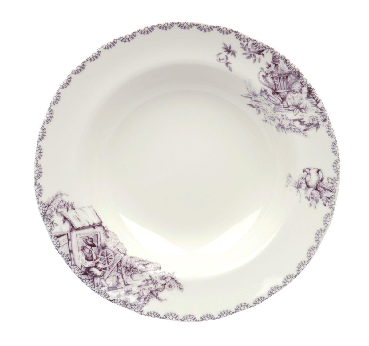 Тарелка глубокая Utana Инглиш принтс Флинт, диаметр 23,5 смUTEF97920Тарелка Utana Инглиш принтс Флинт изготовлена из высококачественной керамики. Предназначена для подачи супа или салата. Изделие декорировано оригинальным принтом. Такая тарелка украсит сервировку стола и подчеркнет прекрасный вкус хозяйки. Можно мыть в посудомоечной машине и использовать в СВЧ. Диаметр: 23,5 см. Высота: 4 см.
