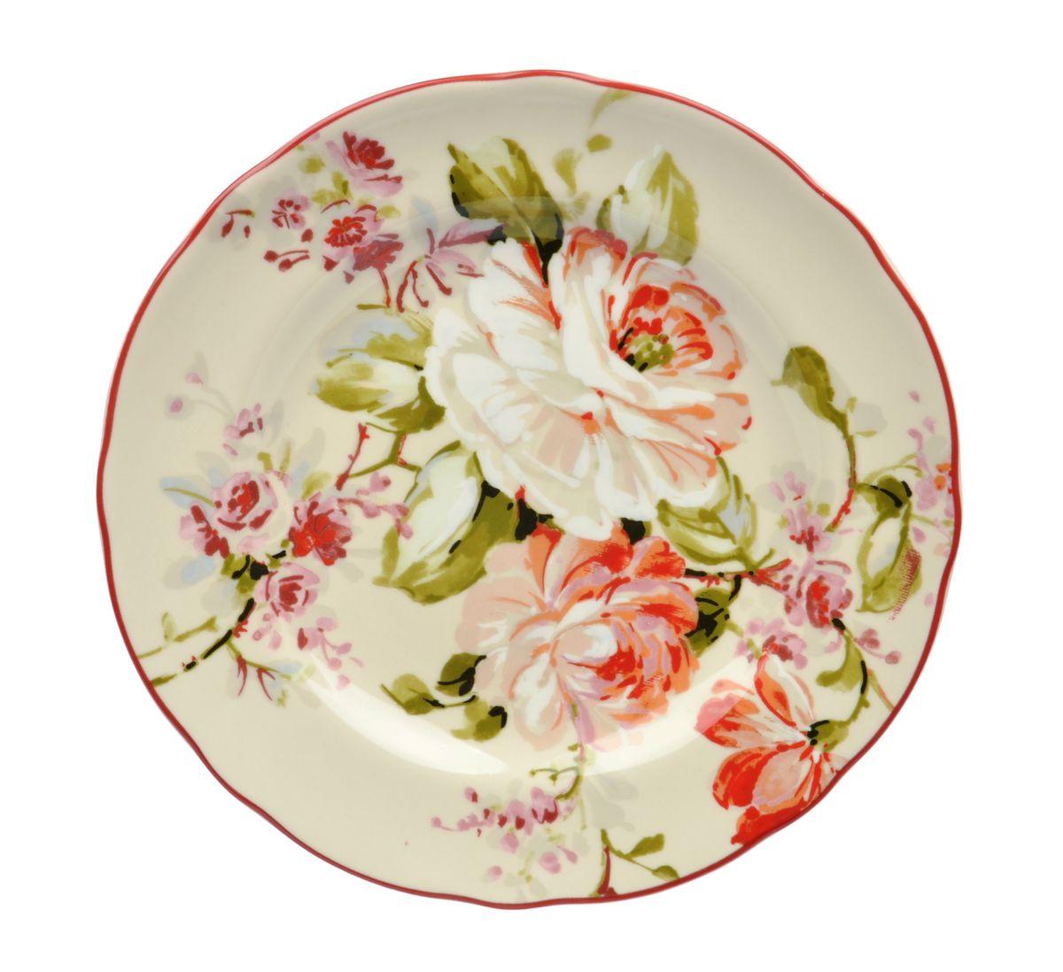 Тарелка десертная Utana Эмилия, диаметр 22 смUTEM97810Тарелка десертная Utana Эмилия изготовлена из высококачественной керамики. Предназначена для красивой подачи различных блюд. Изделие декорировано ярким рисунком. Такая тарелка украсит сервировку стола и подчеркнет прекрасный вкус хозяйки. Можно мыть в посудомоечной машине и использовать в СВЧ. Диаметр: 22 см. Высота: 3 см.